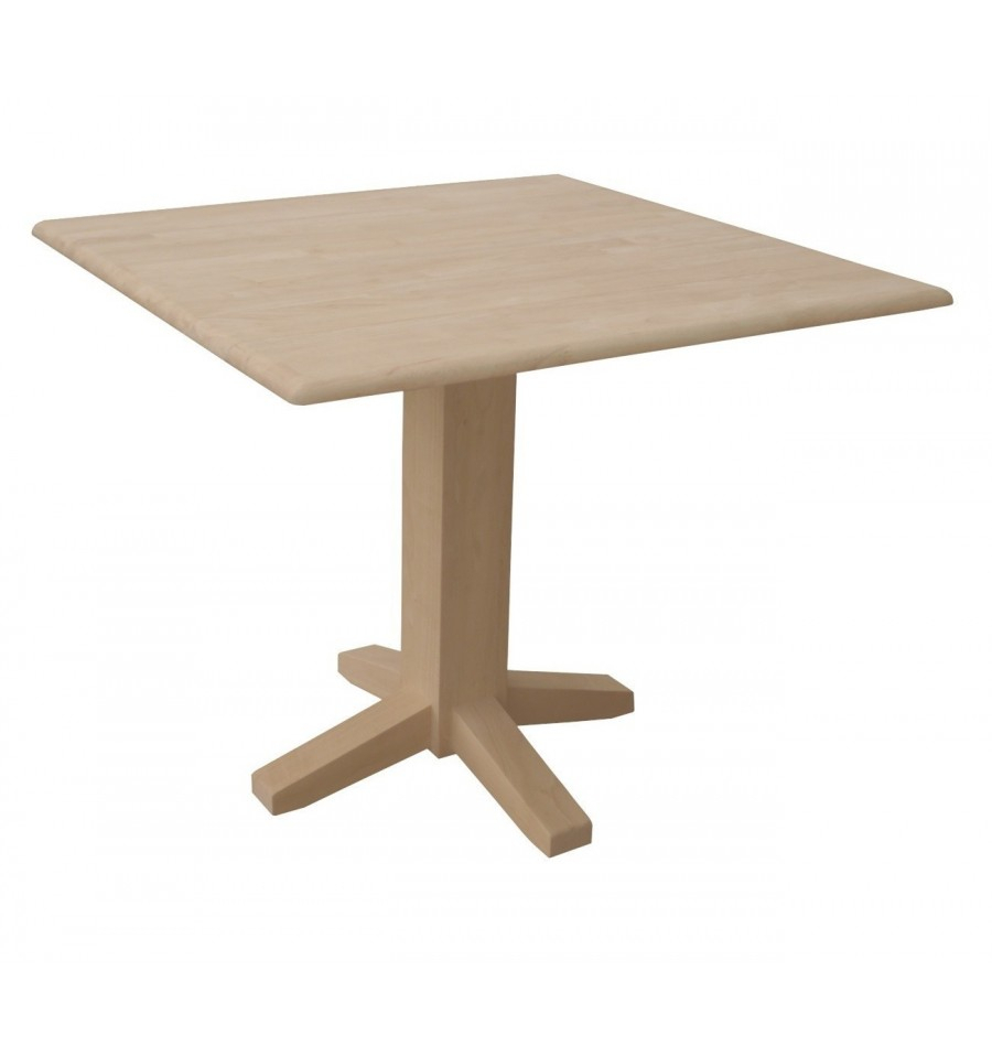 [36 Inch] Dropleaf Dining Table With Square Pedestal Intended For Most Current Montauk 36'' Dining Tables (View 6 of 15)