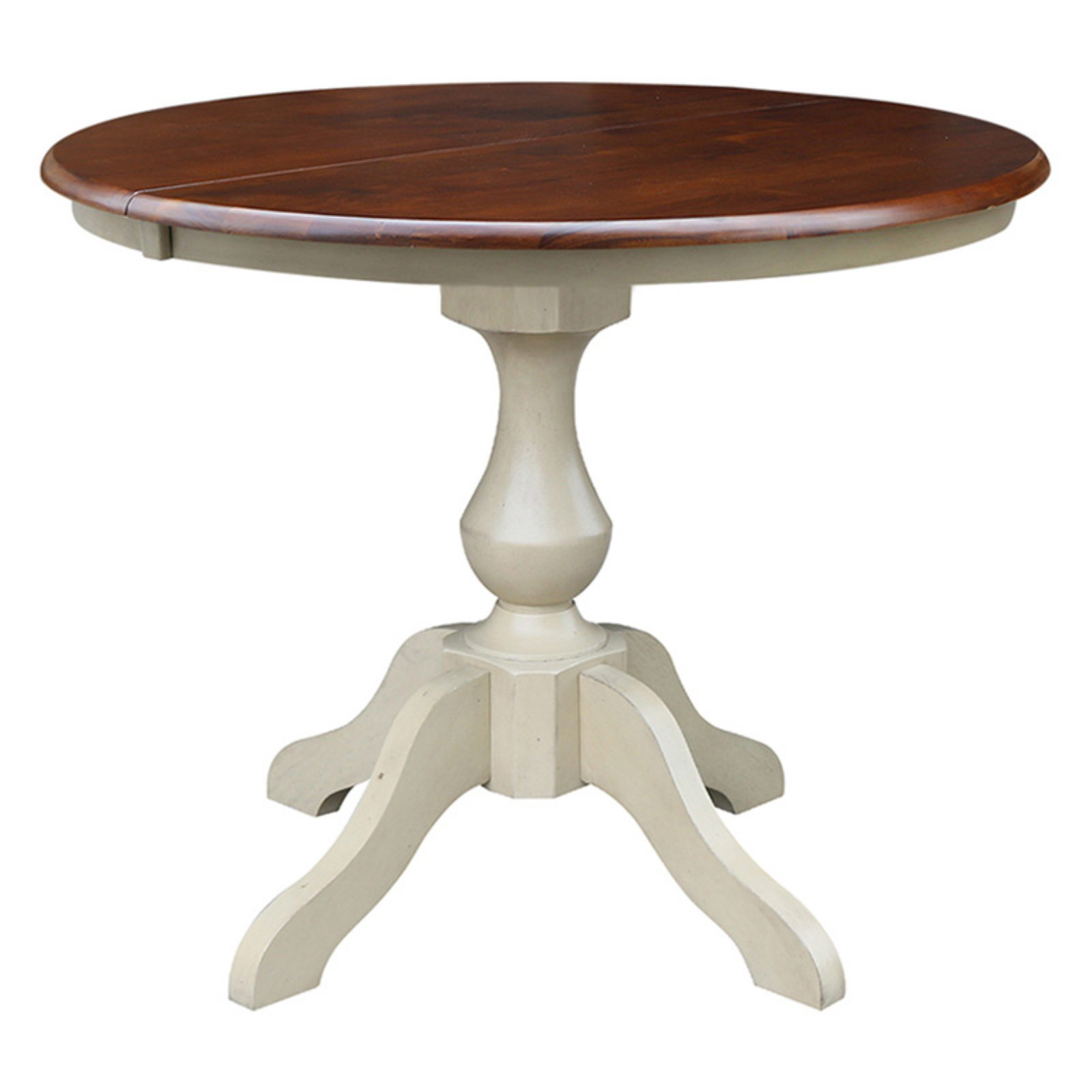 """36"""" Round Top Pedestal Table With 12"""" Leaf – Dining Height Regarding Newest Nashville 40'' Pedestal Dining Tables (Photo 8 of 15)"""