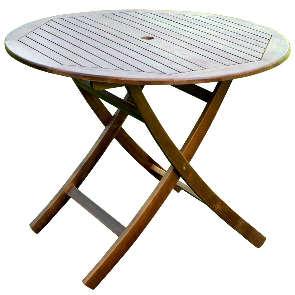 38 Inch Round Wooden Folding Table With Curved Legs In In 2017 Bechet 38'' Dining Tables (View 10 of 15)
