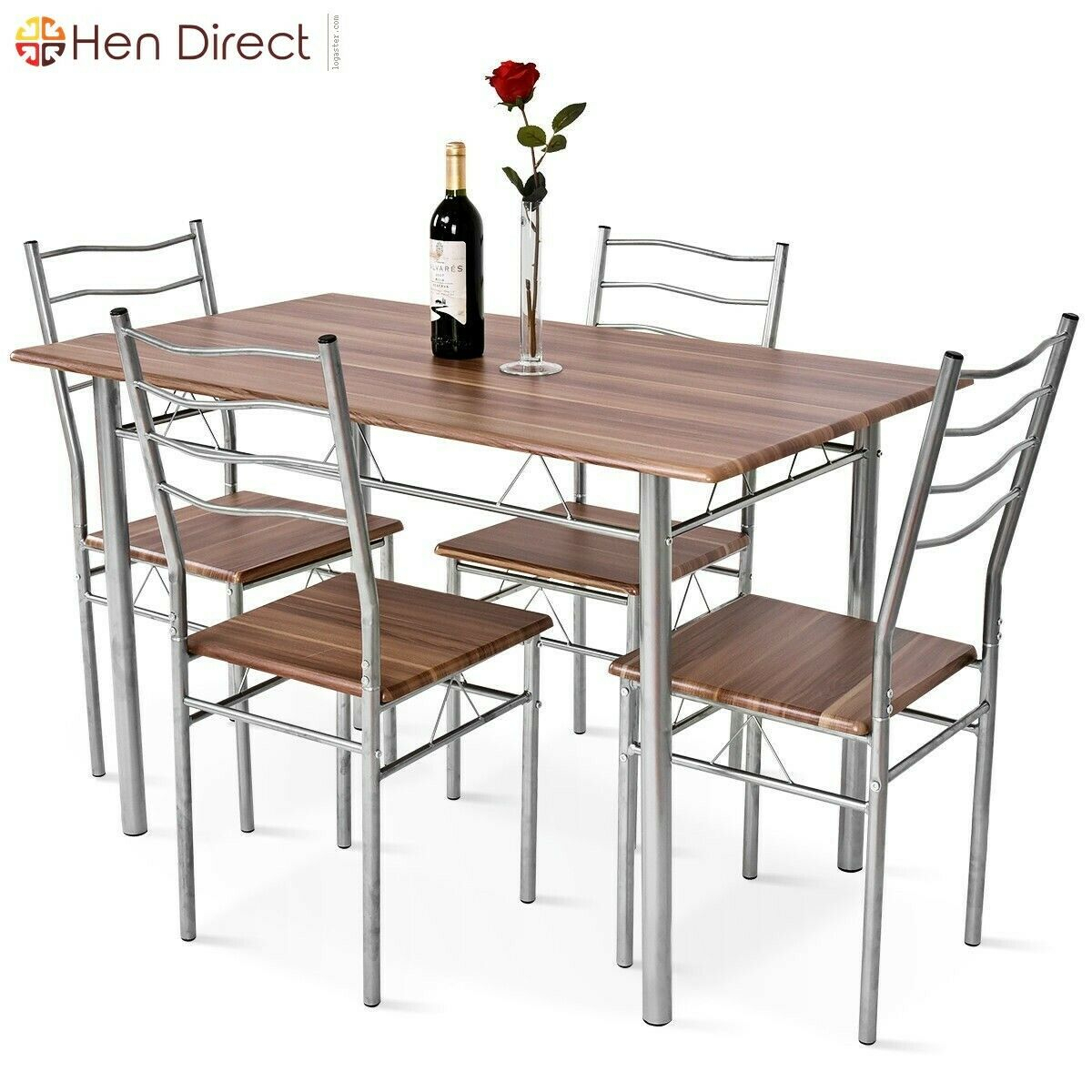 4 People Elegant Family Dining Room Set Long Lasting With Intended For Latest (View 10 of 15)