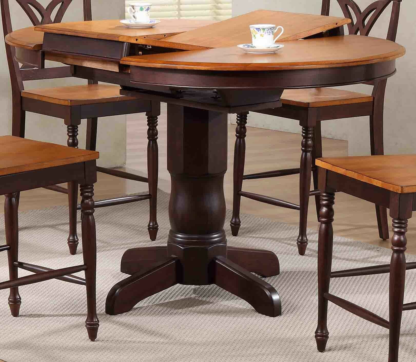 42'' Square Black Laminate Table Top With 33'' X 33'' Bar Intended For Best And Newest Charterville Counter Height Pedestal Dining Tables (View 12 of 15)