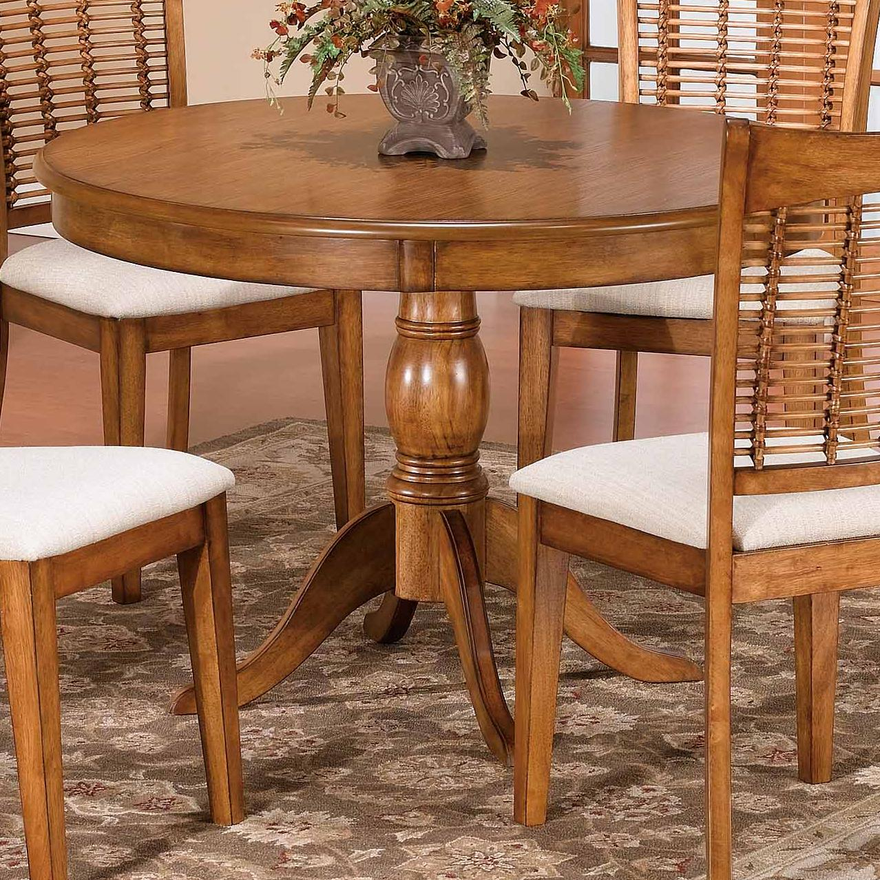 """44"""" Round Single Pedestal Dining Tablehillsdale   Wolf With Regard To Best And Newest Villani Pedestal Dining Tables (View 9 of 15)"""