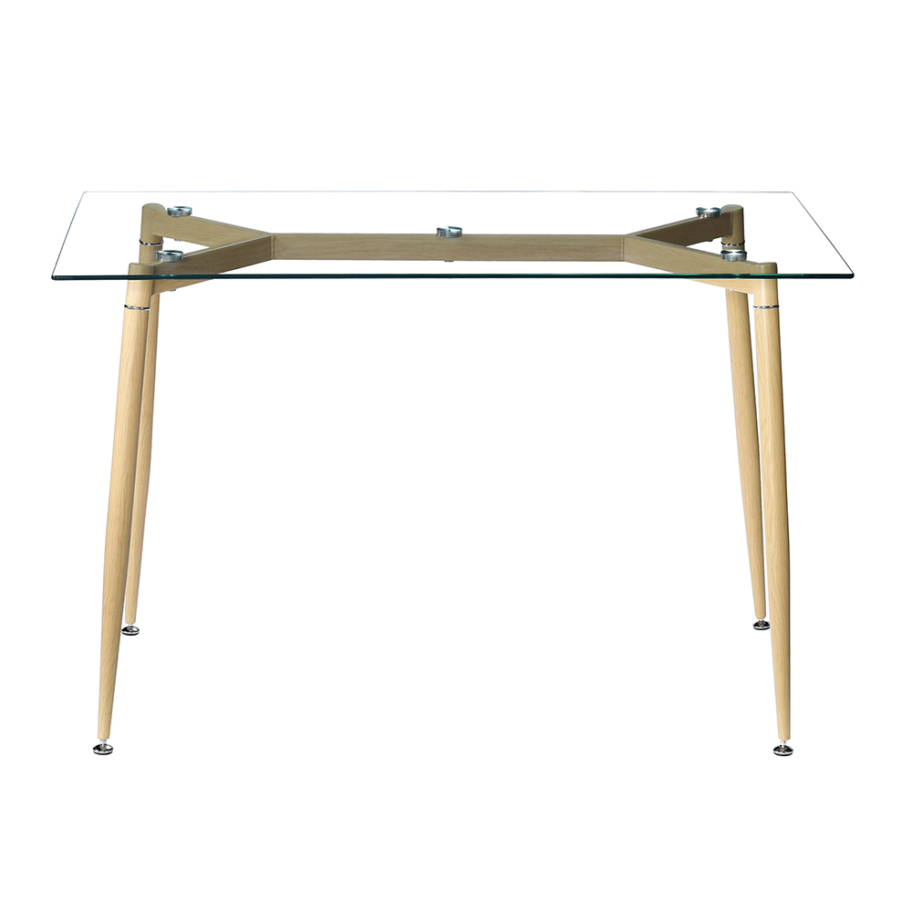 """47.3"""" X 27.6"""" X 29.5"""" Dinner Table, 8Mm Black Tempered With Regard To Recent Conerly  (View 6 of 15)"""