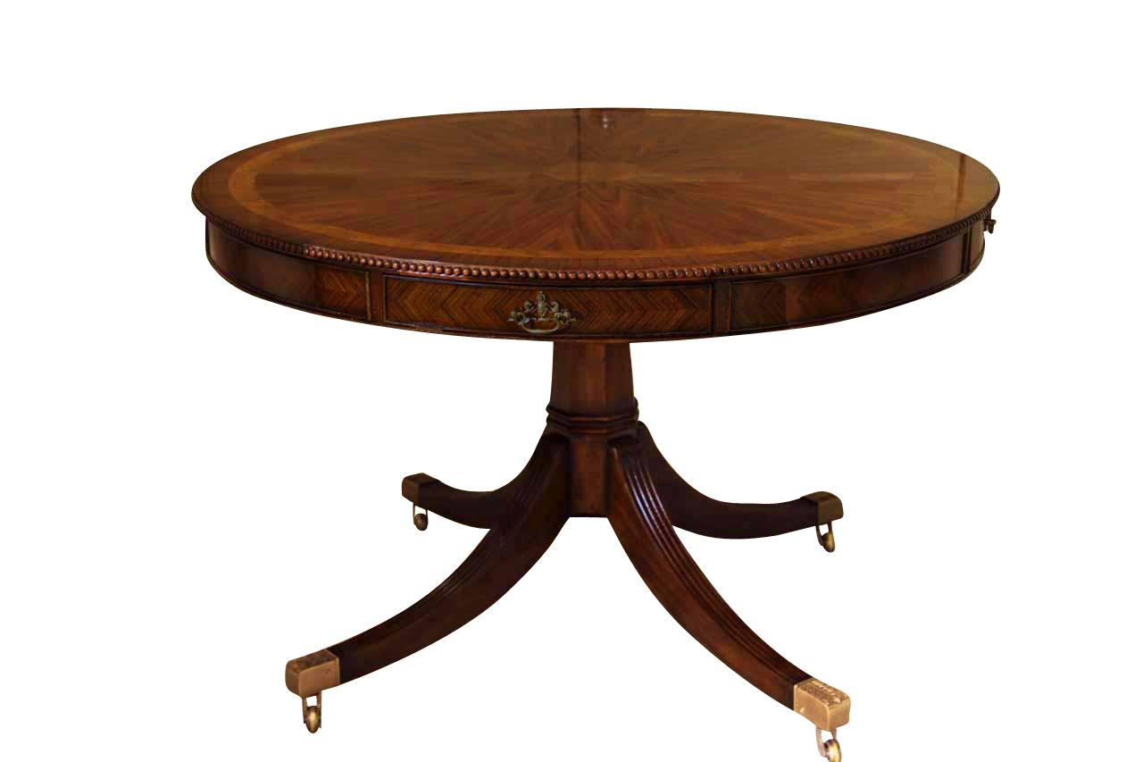 48 Inch Round Mahogany Table Theodore Alexander Al54014 Pertaining To Latest Monogram 48'' Solid Oak Pedestal Dining Tables (View 6 of 15)
