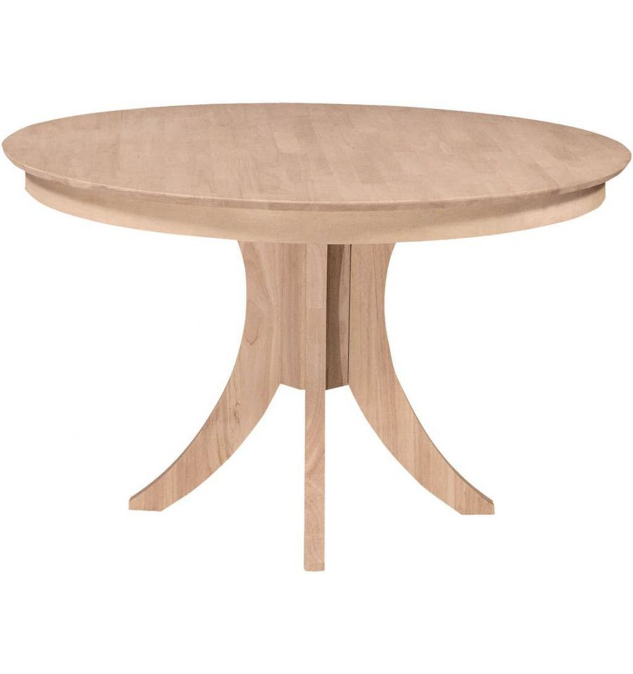 [48 Inch] Siena Round Dining Table With Pedestal Base Throughout Best And Newest Exeter 48'' Pedestal Dining Tables (Photo 4 of 15)