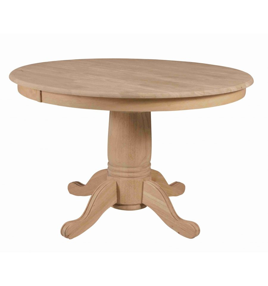[48 Inch] Solid Dining Table – Wood You Furniture Inside Most Current Monogram 48'' Solid Oak Pedestal Dining Tables (View 3 of 15)
