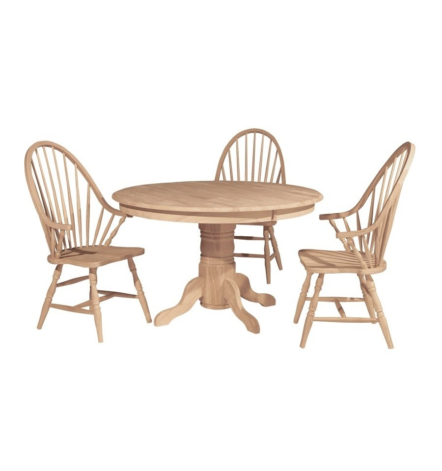 [48 Inch] Solid Dining Table – Wood You Furniture Intended For Best And Newest Exeter 48'' Pedestal Dining Tables (View 14 of 15)