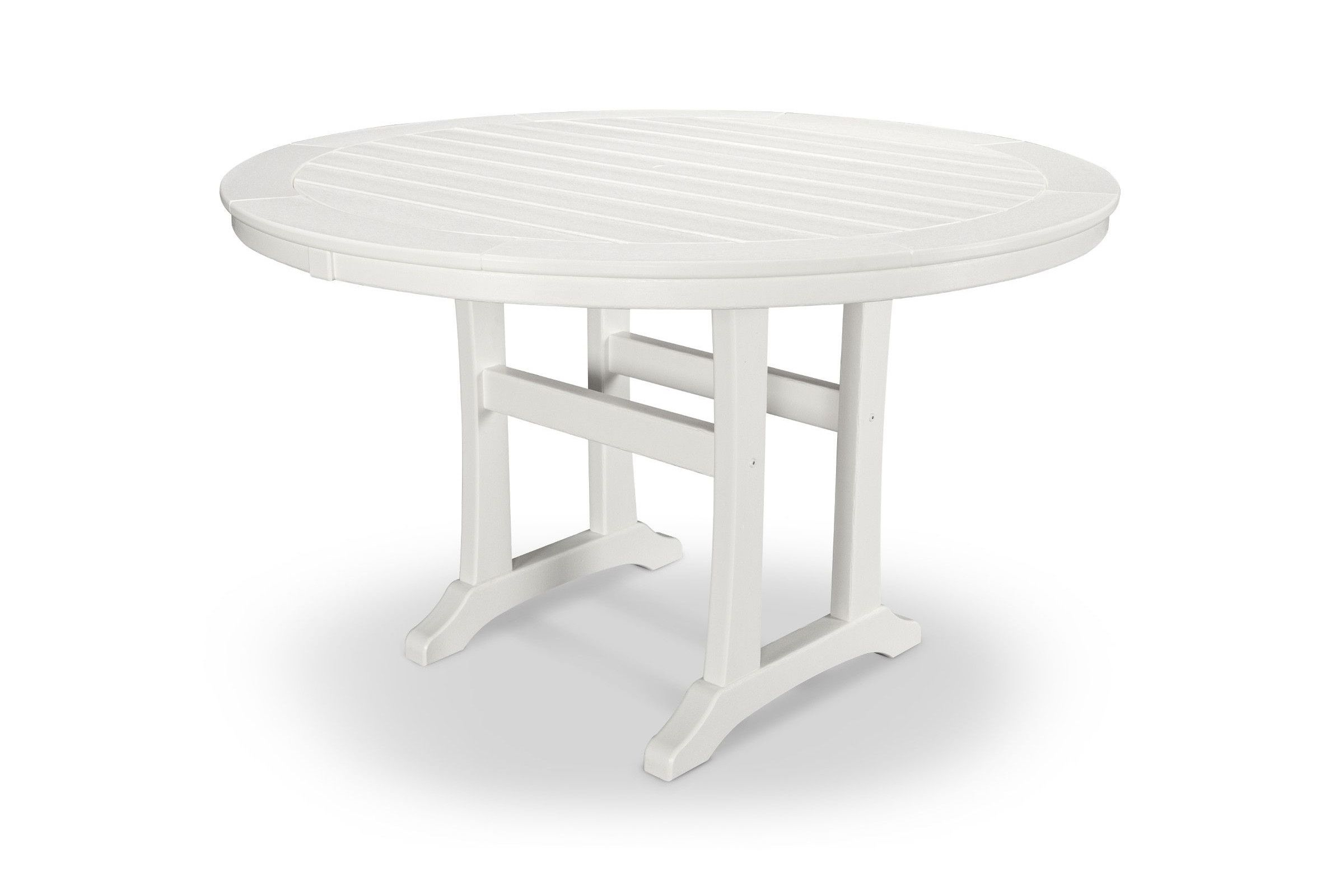 """48"""" Round Dining Table Rt448 L1 Intended For Newest Leonila 48'' Trestle Dining Tables (View 11 of 15)"""