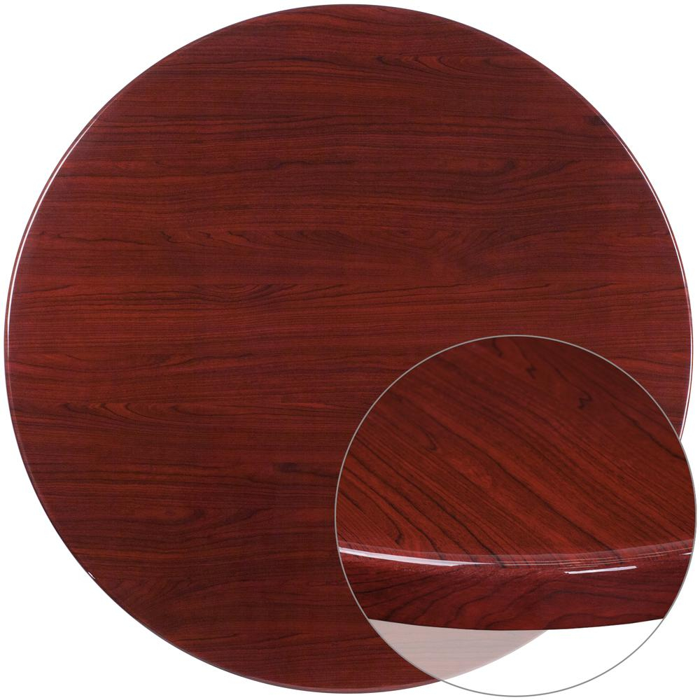 48'' Round High Gloss Mahogany Resin Table Top With 2 Intended For Most Current Sanibel (View 9 of 15)