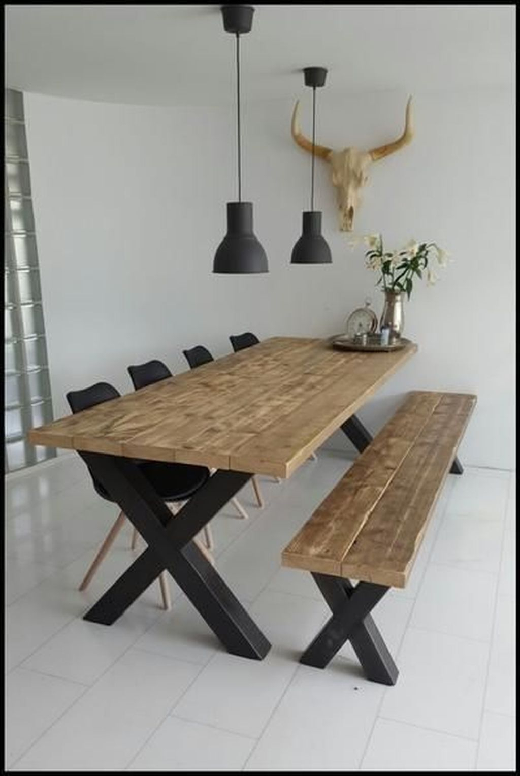 49 Diy Wooden Dining Table Idea In 2020 | Dining Room With Regard To 2017 49'' Dining Tables (View 2 of 15)