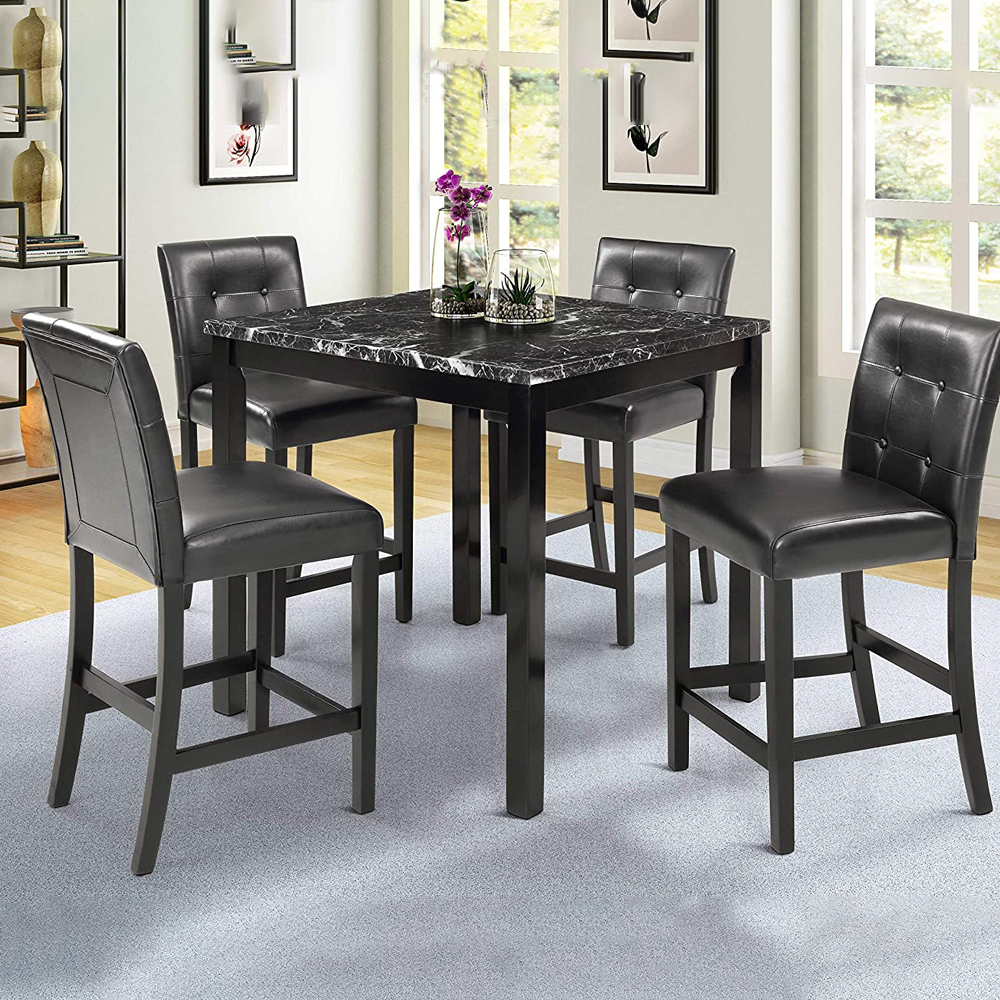 5 Piece Dining Room Table Set, Urhomepro Counter Height Throughout Most Current Tudor City 28'' Dining Tables (Photo 3 of 15)