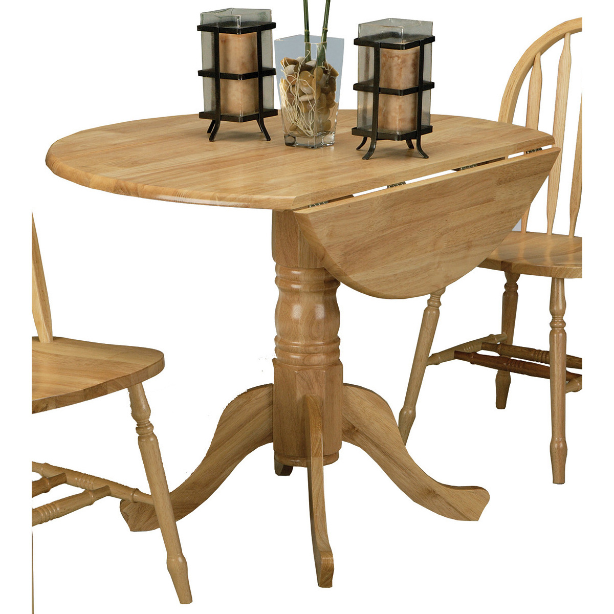 5140Nadt Drop Leaf Pedestal Table Intended For Current Boothby Drop Leaf Rubberwood Solid Wood Pedestal Dining Tables (View 8 of 15)