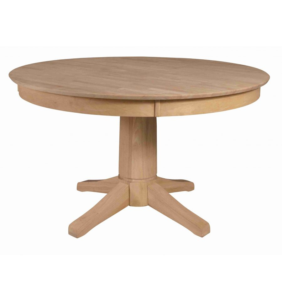[52 Inch] Solid Dining Table – Wood You Furniture Within Most Up To Date Baring 35'' Dining Tables (View 11 of 15)
