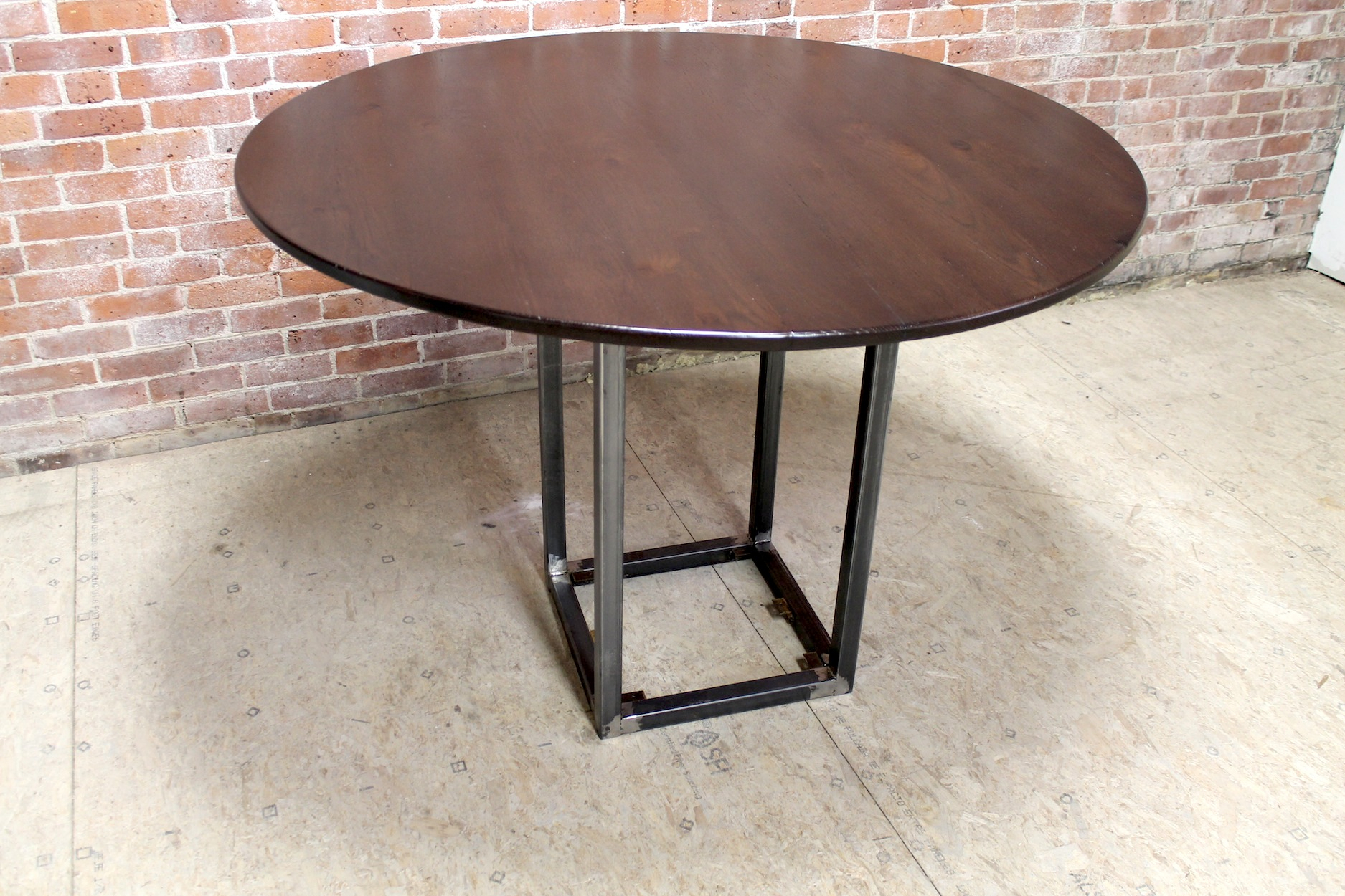 54 Inch Round Counter Height Table | Lake And Mountain Home In Most Current Andrelle Bar Height Pedestal Dining Tables (View 10 of 15)