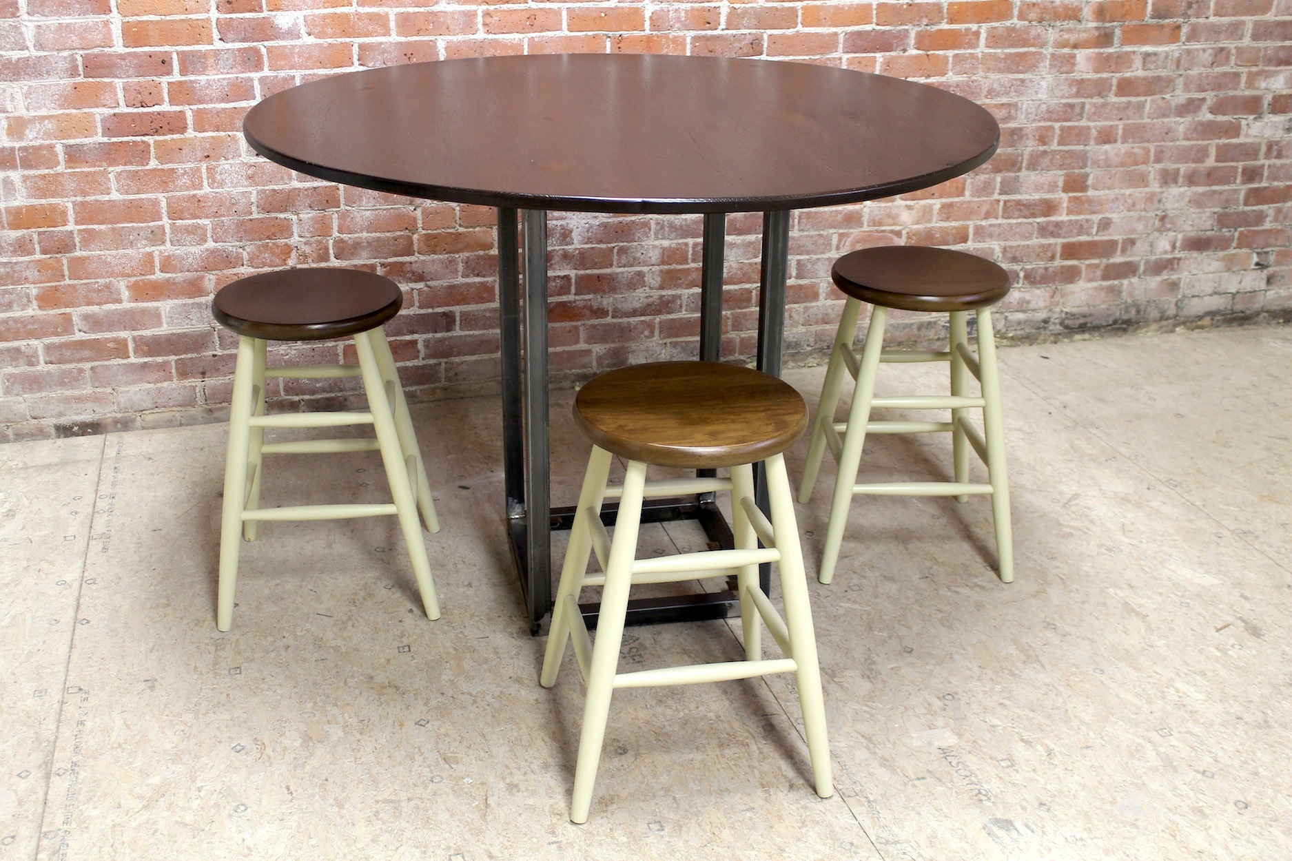 54 Inch Round Counter Height Table – Lake And Mountain Home Pertaining To Most Current Bushrah Counter Height Pedestal Dining Tables (View 4 of 15)