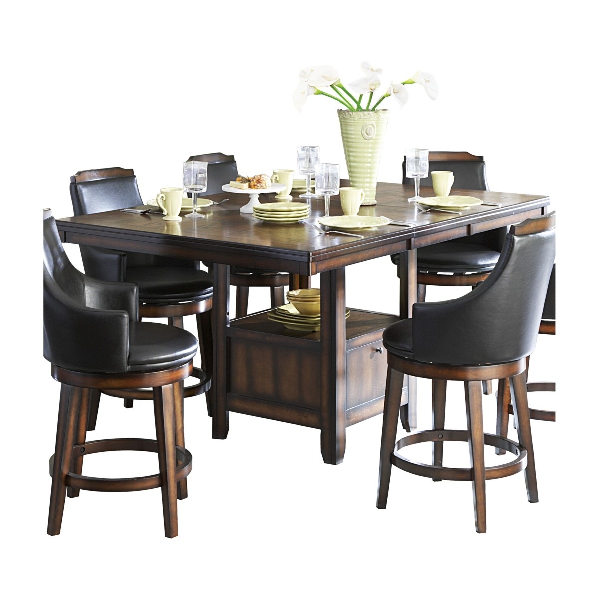 5447 36Xl* Counter Height Table With Storage Base Regarding Recent Andreniki Bar Height Pedestal Dining Tables (View 3 of 15)