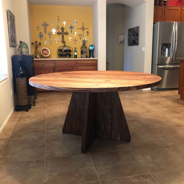 """60"""" Desert Hardwood Round Dining Table With Most Recently Released Adejah 35'' Dining Tables (View 11 of 15)"""