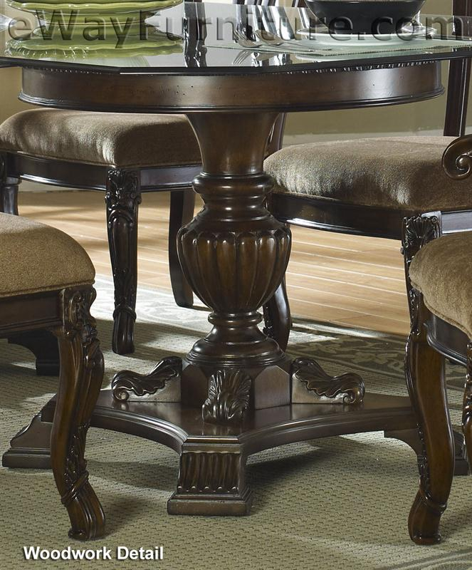 """60"""" Round Glass Top Pedestal Dining Table Fd01 Gpt In Newest Kirt Pedestal Dining Tables (View 10 of 15)"""