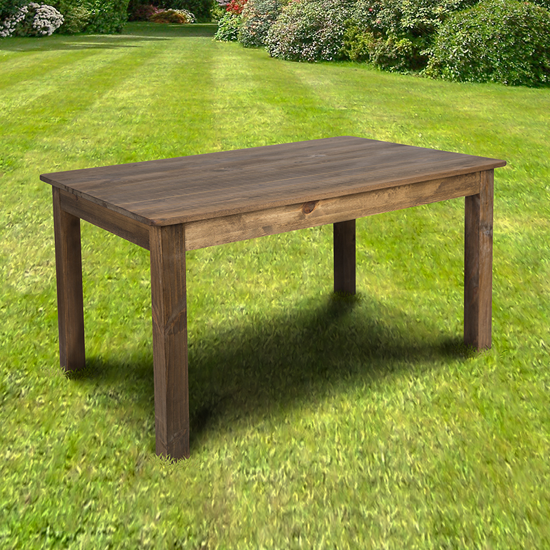 """60"""" X 38"""" Rectangular Antique Rustic Solid Pine Farm Regarding Most Up To Date Nalan 38'' Dining Tables (View 6 of 15)"""