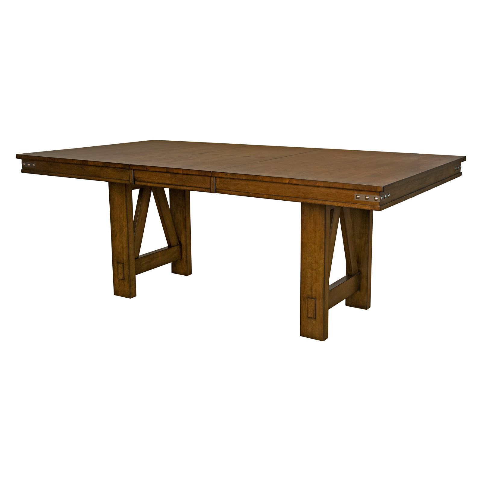 A America Eastwood Trestle Dining Table – Walmart Throughout Most Popular Trestle Dining Tables (View 2 of 15)