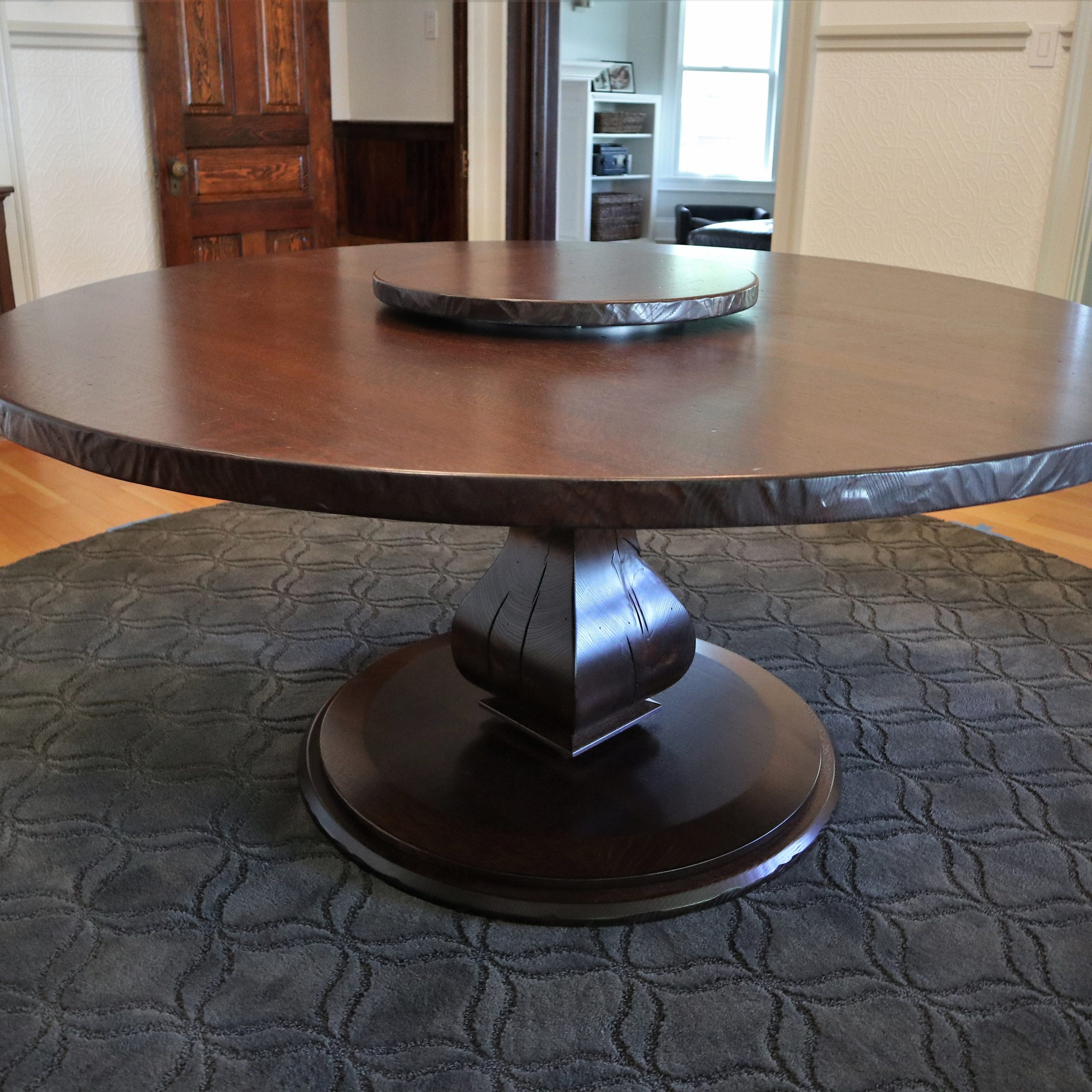 A Great Accessory To Any Of Our Handcrafted Tables: A Lazy Throughout Best And Newest Canalou 46'' Pedestal Dining Tables (View 12 of 15)