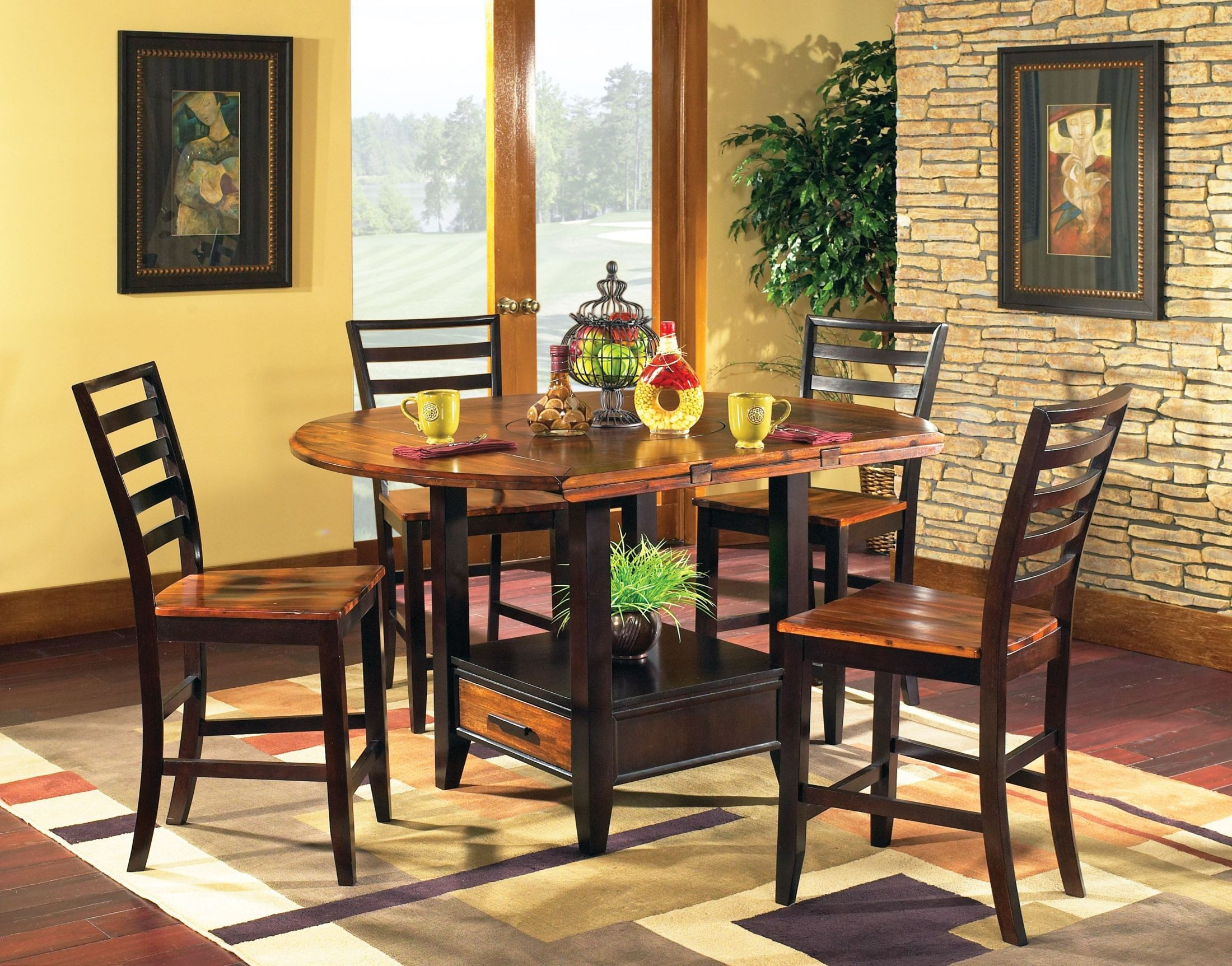 Abaco Extendable Round Counter Height Dining Table From For Most Popular Counter Height Extendable Dining Tables (View 12 of 15)