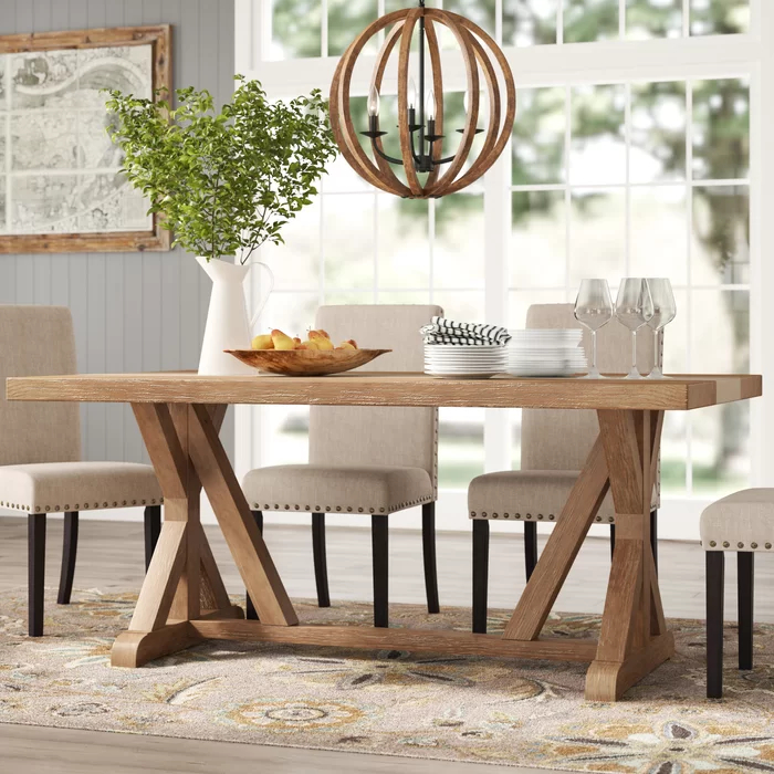 Aberdale Dining Table In 2020 | Dining Table, Solid Wood For Most Recent Katarina Extendable Rubberwood Solid Wood Dining Tables (View 10 of 15)