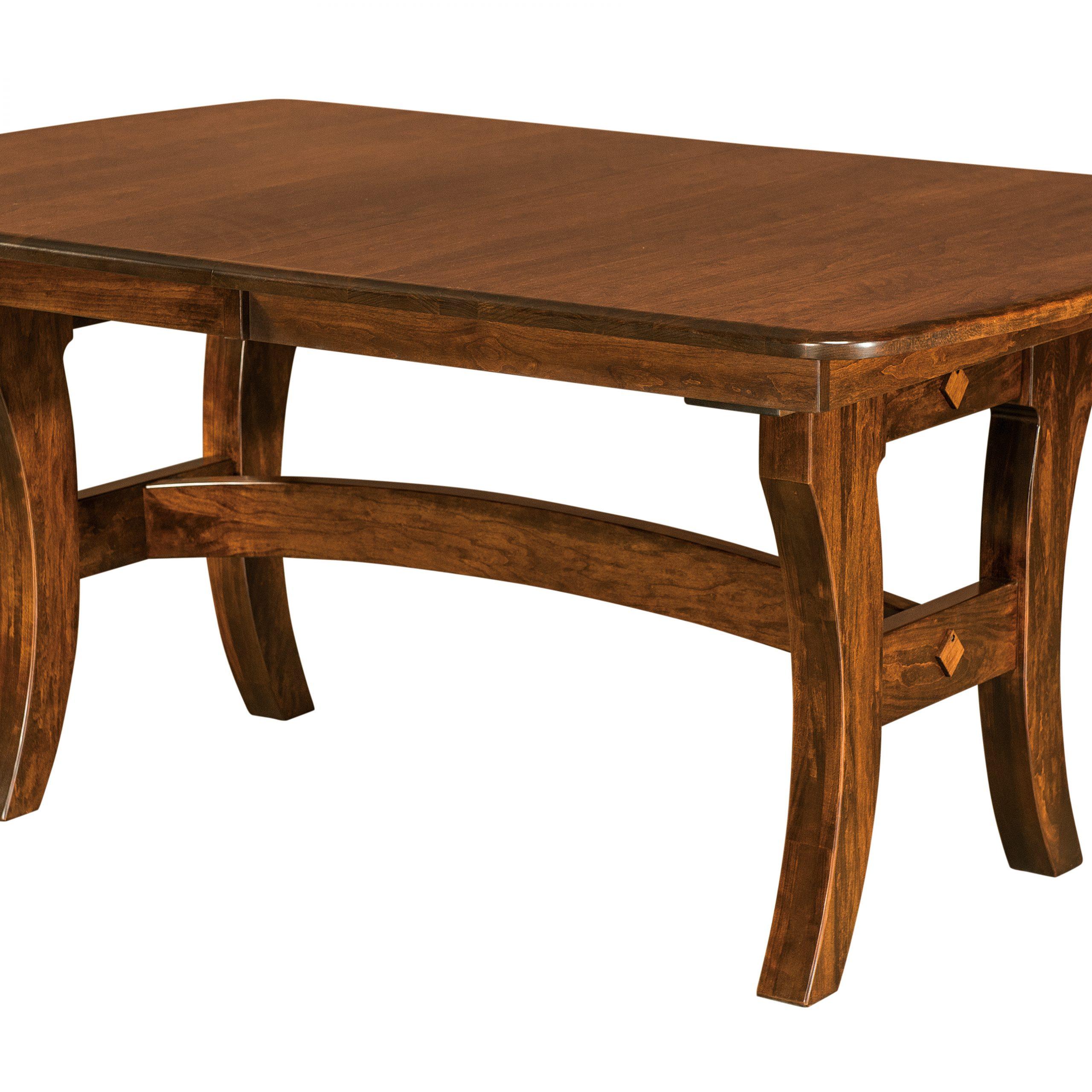 Abilene Trestle Table   Hardwood Creations Within Current Haddington 42'' Trestle Dining Tables (View 5 of 15)