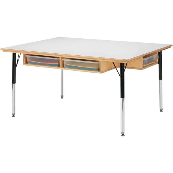 """Activity Table With Storage – 36""""W X 48""""L X 24"""" – 31""""H Intended For Most Recent Elite Rectangle 48"""" L X 24"""" W Tables (View 3 of 15)"""