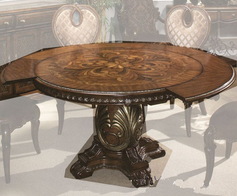Aico Round Dining Table Sovereign Ai 57001Tb 51 Throughout Latest Hetton 38'' Dining Tables (View 14 of 15)