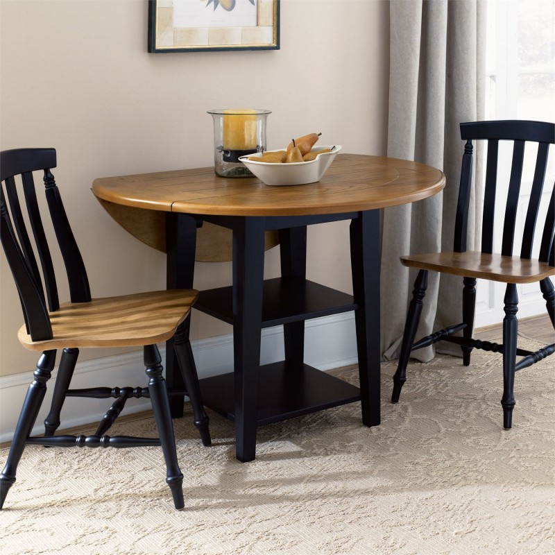 Al Fresco Ii 3 Piece Drop Leaf Table Set Regarding Most Up To Date Boothby Drop Leaf Rubberwood Solid Wood Pedestal Dining Tables (View 12 of 15)