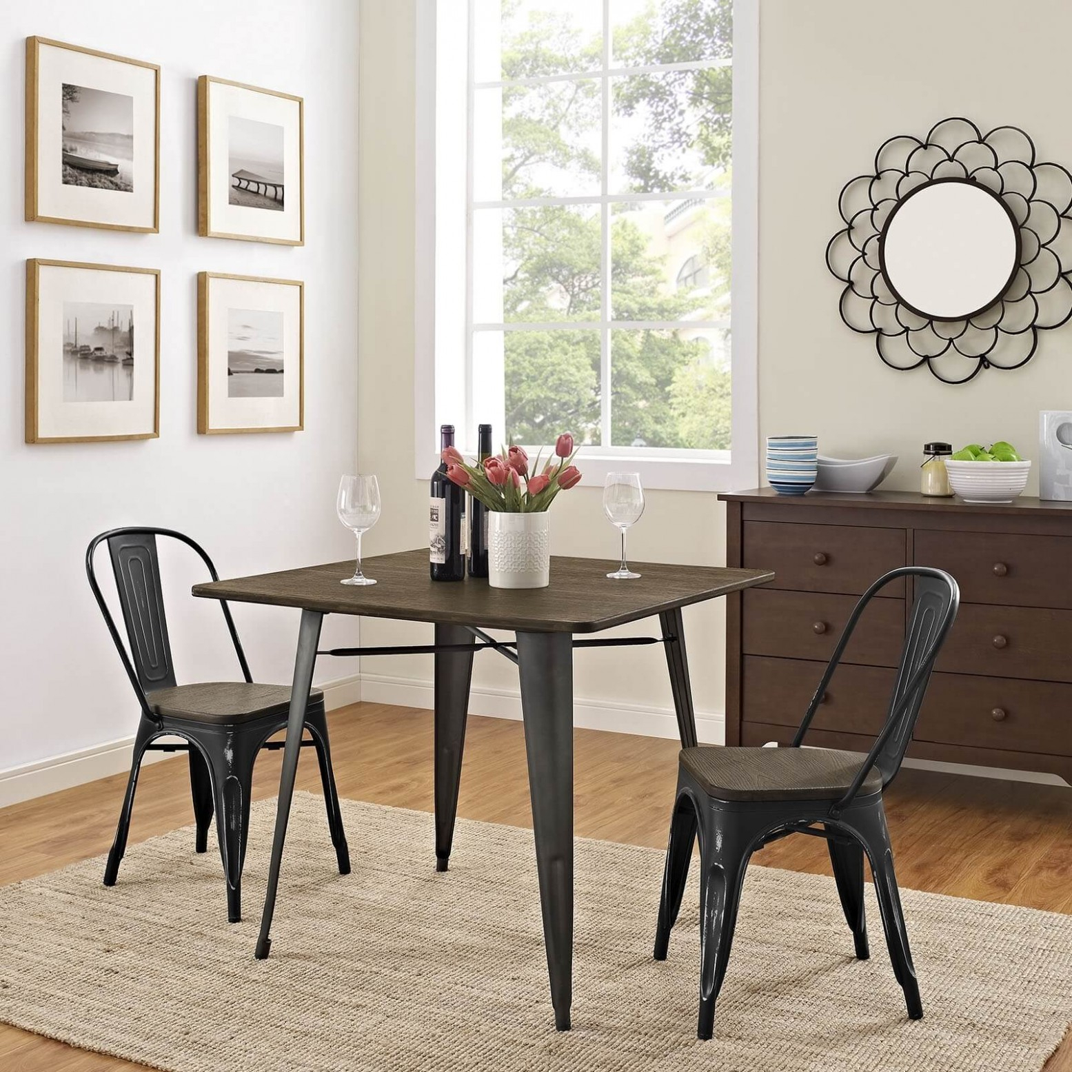 Alacrity 36 Square Wood Dining Table, Brownmodway Throughout Latest Hitchin 36'' Dining Tables (View 5 of 15)