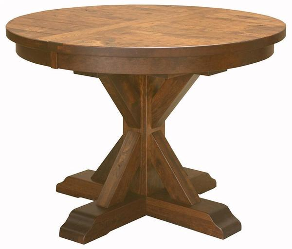 Alberta Pedestal Dining Room Table From Dutchcrafters Intended For Current 47'' Pedestal Dining Tables (View 13 of 15)