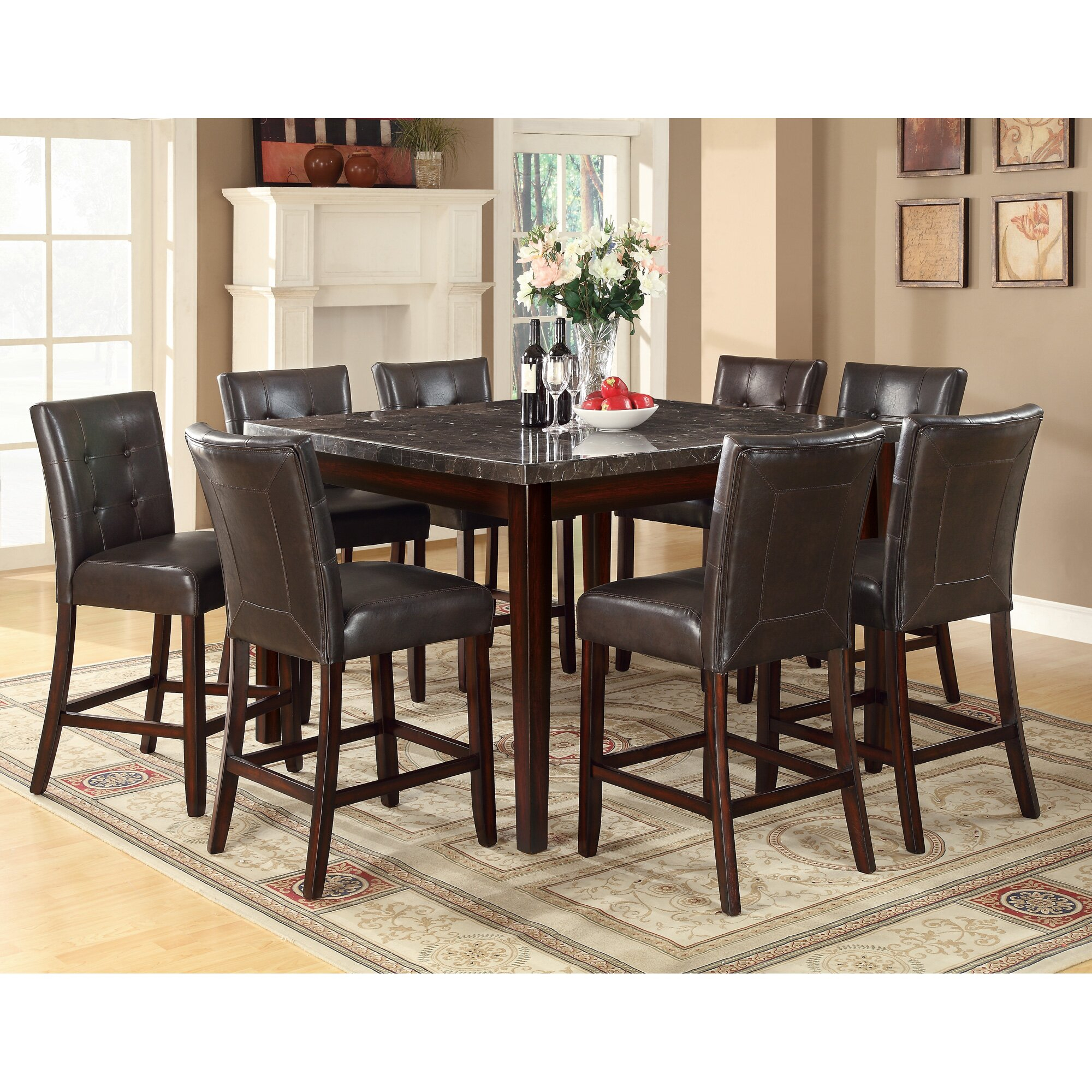 Alcott Hill Cincinnati Counter Height Dining Table For 2018 Andrenique Bar Height Dining Tables (View 7 of 15)