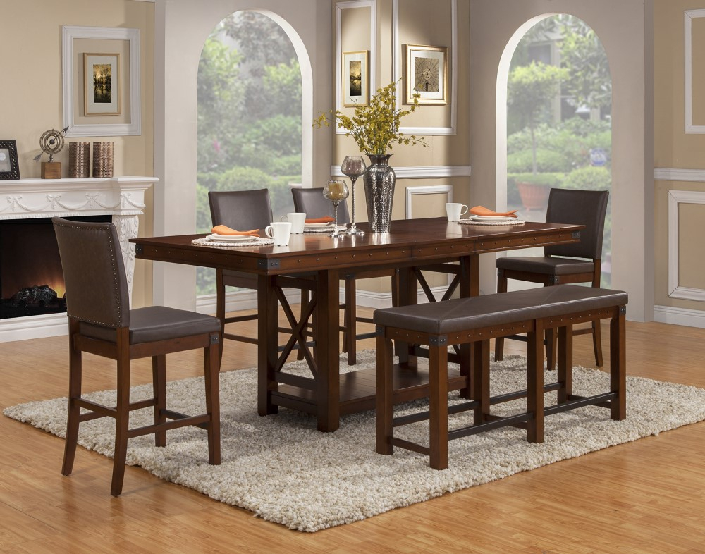 Alpine Furniture – Artisan Extension Counter Height Dining Regarding Most Recently Released Eduarte Counter Height Dining Tables (View 2 of 15)