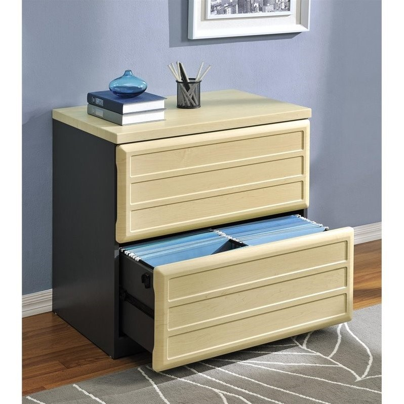"""Altra Furniture Benjamin 2 Drawer File Cabinet In Natural Inside Most Up To Date Dionara 56"""" L Breakroom Tables (View 15 of 15)"""