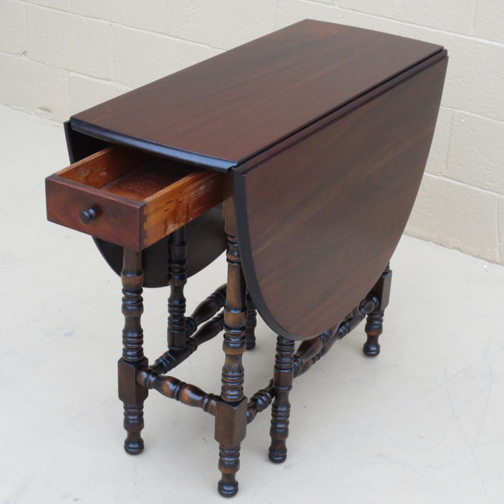 American Antique Drop Leaf Table Antique Furniture From Within Newest Adams Drop Leaf Trestle Dining Tables (View 9 of 15)