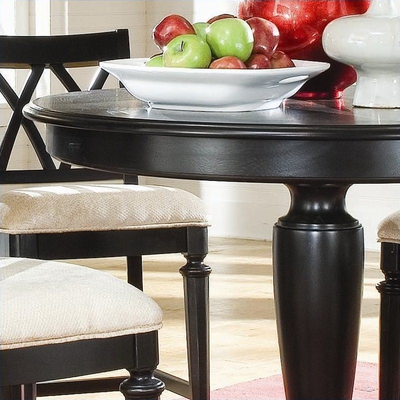 American Drew Camden 5 Piece Round Counter Height Pedestal Throughout Most Recent Andreniki Bar Height Pedestal Dining Tables (View 13 of 15)