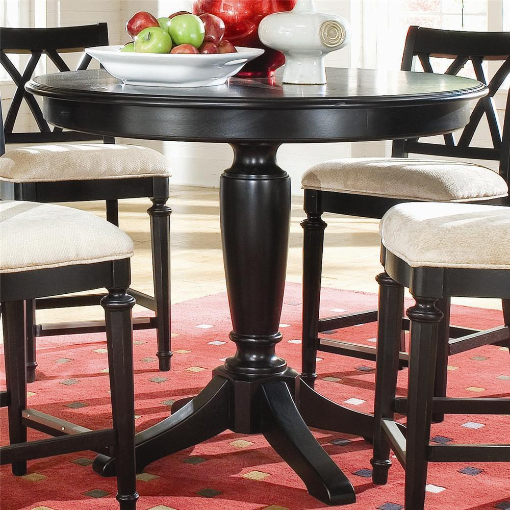 American Drew Camden – Dark Round Counter Height Pub Table In Best And Newest Bushrah Counter Height Pedestal Dining Tables (View 12 of 15)