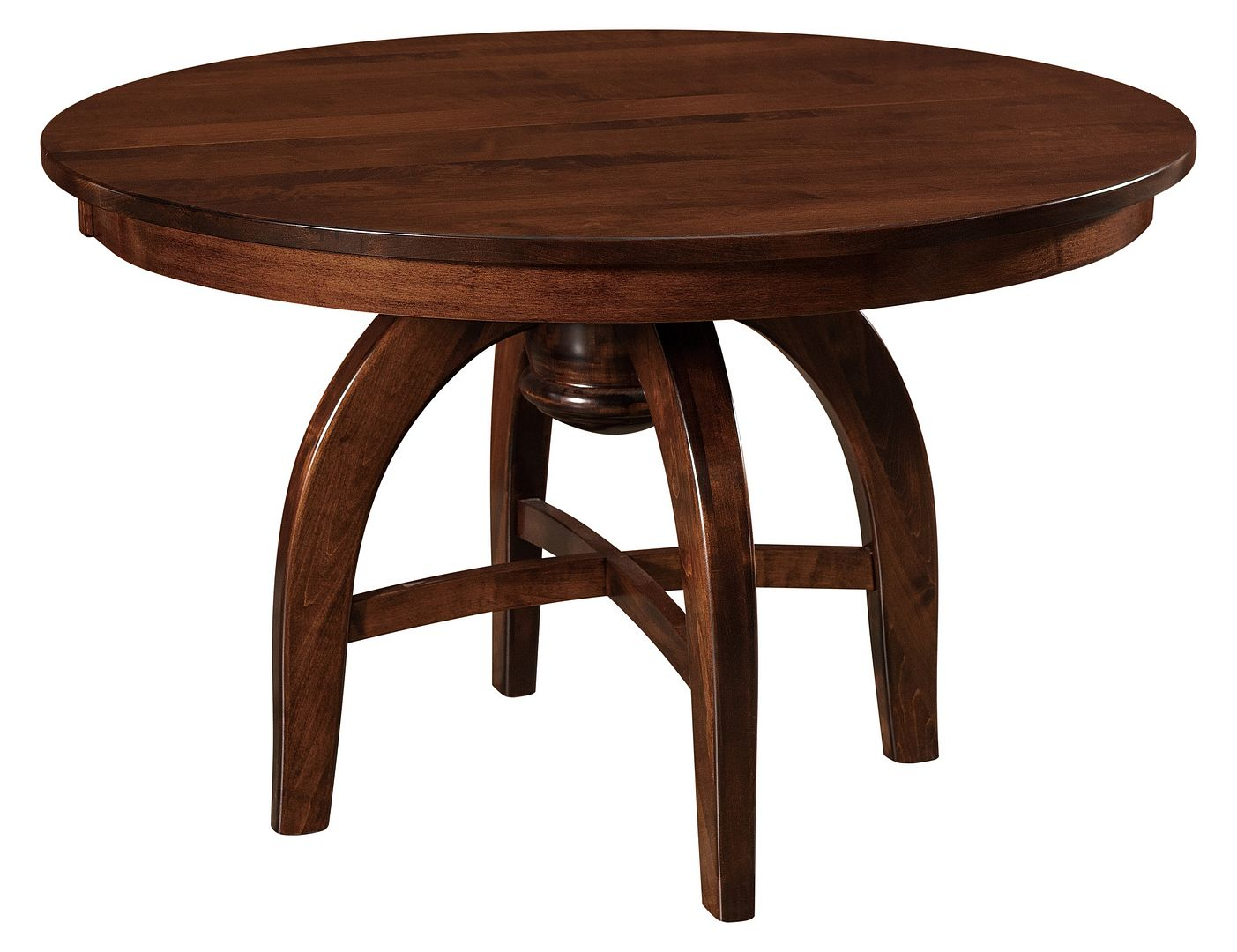 Amish Mid Century Modern Round Dining Table Solid Wood 42 Within Most Recent Monogram 48'' Solid Oak Pedestal Dining Tables (Photo 9 of 15)