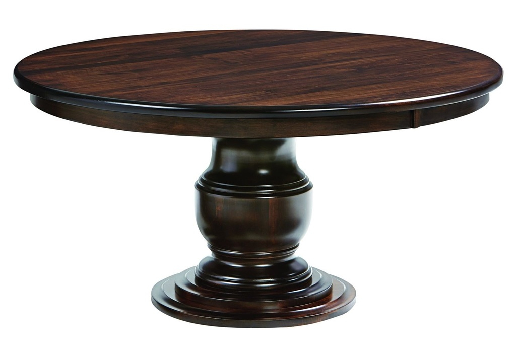 Amish Ziglar Round Pedestal Dining Table | Surrey Street For Most Up To Date Sevinc Pedestal Dining Tables (View 13 of 15)