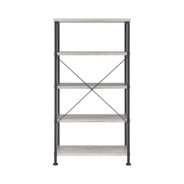 Analiese 4 Shelf Bookcase Grey Driftwood – American Furniture With Most Recent Drift  (View 2 of 15)