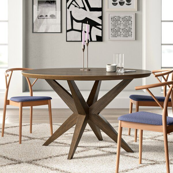Anchor Your Dining Space In Mid Century Modern Style With Throughout Most Popular Rhiannon Poplar Solid Wood Dining Tables (View 11 of 15)