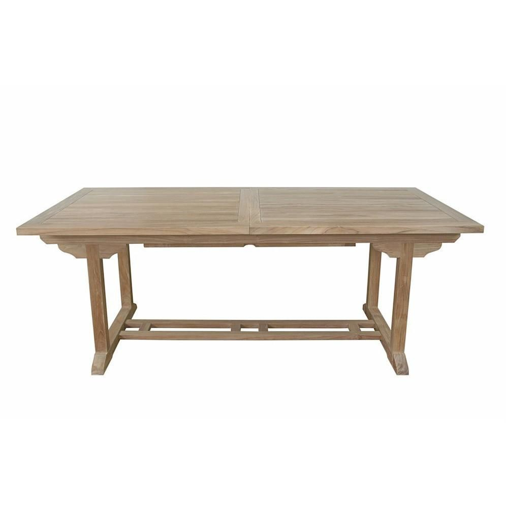 Anderson Teak Bahama 10 Foot Rectangular Extension Table Regarding Most Recently Released Aulbrey Butterfly Leaf Teak Solid Wood Trestle Dining Tables (View 4 of 15)