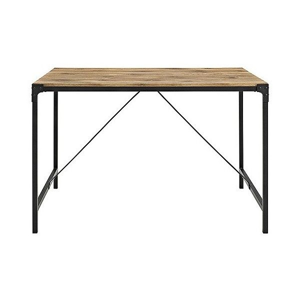 Angle Iron And Wood Trestle Style Dining Table ($161 With Most Current Dellaney 35'' Iron Dining Tables (View 9 of 15)