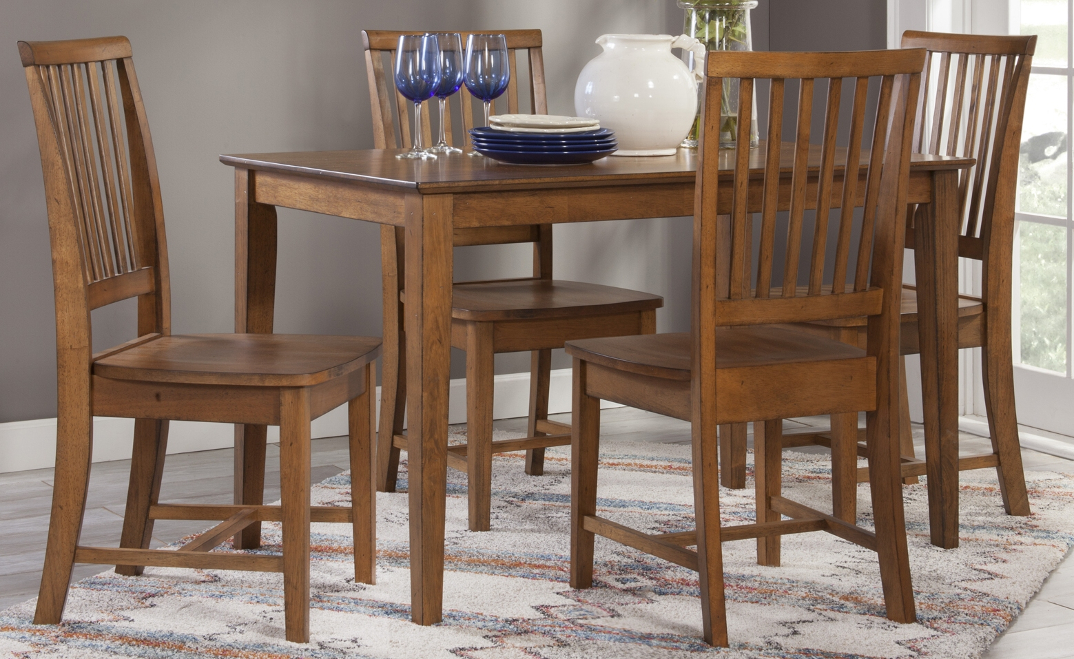 Annie Oakley'S Wood Furniture In Most Up To Date Babbie Butterfly Leaf Pine Solid Wood Trestle Dining Tables (View 11 of 15)