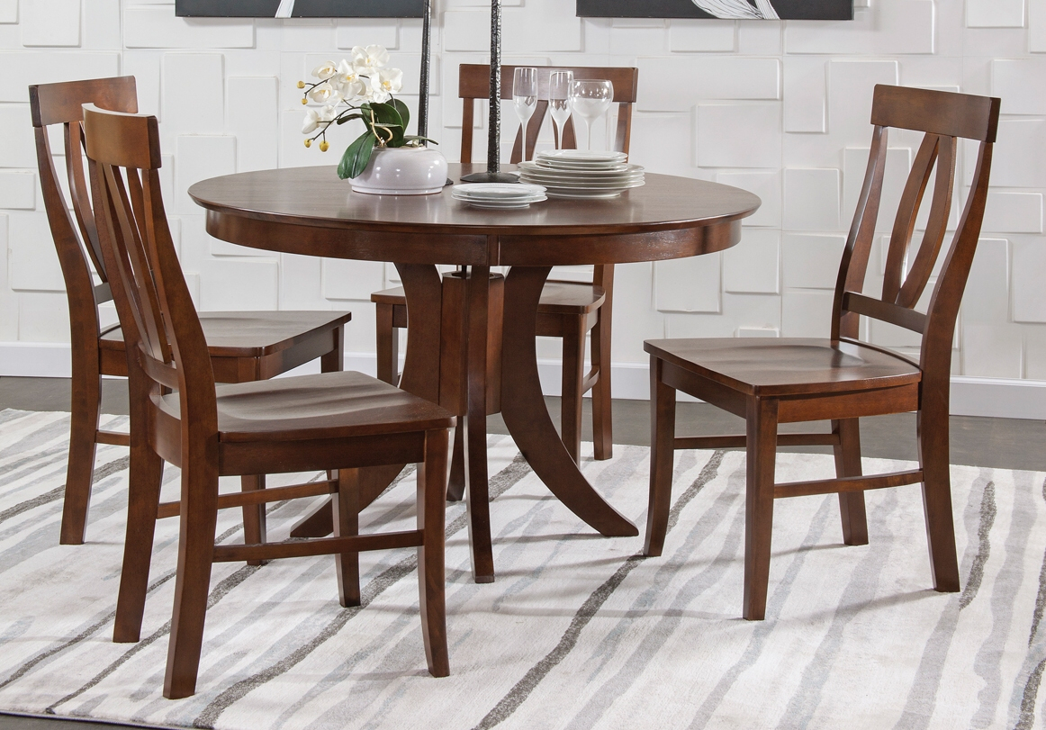 Annie Oakley'S Wood Furniture With Recent Babbie Butterfly Leaf Pine Solid Wood Trestle Dining Tables (View 10 of 15)