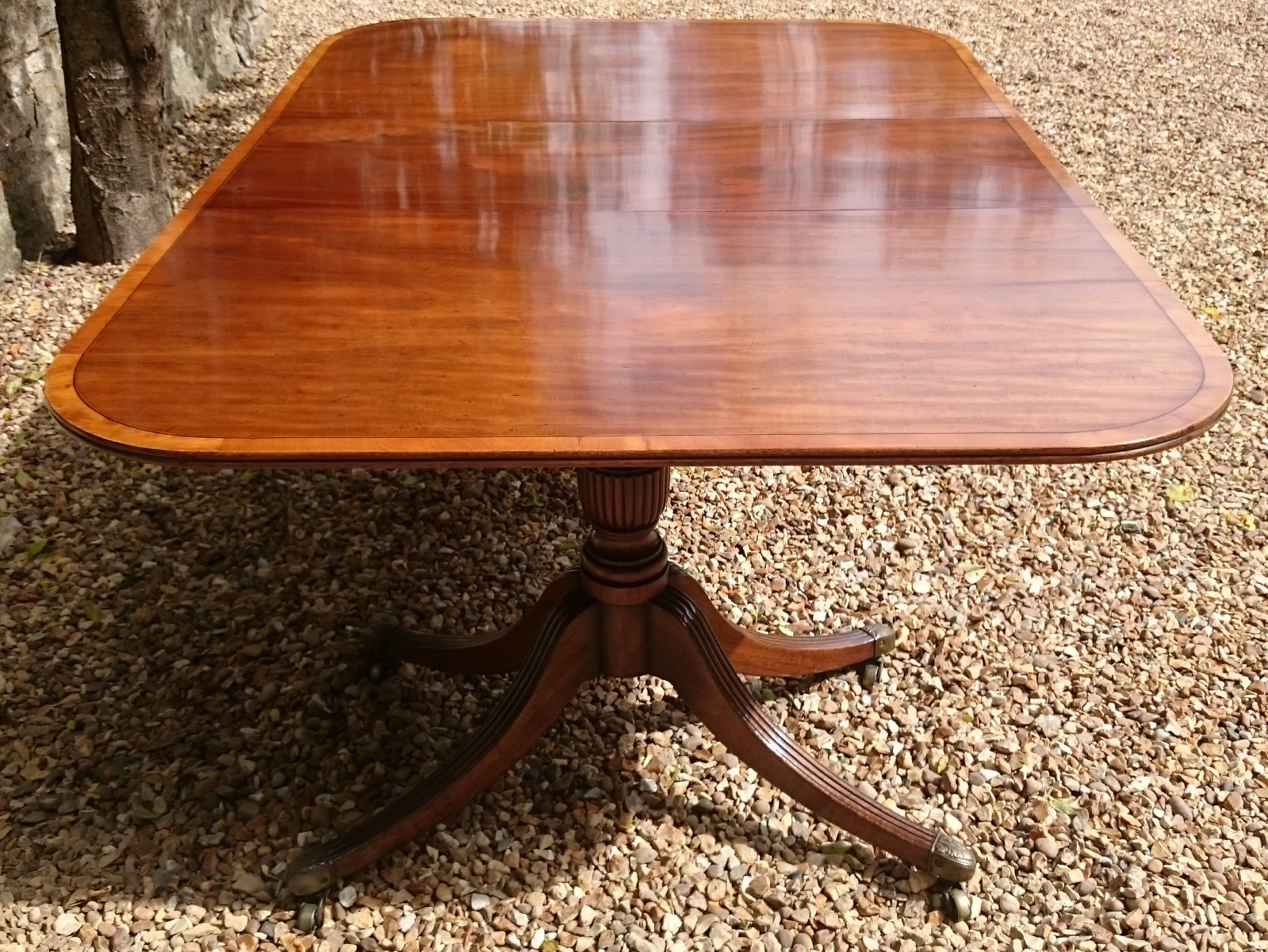 Antique Pedestal Dining Tables – Hares Antiques Regarding 2017 Sevinc Pedestal Dining Tables (View 11 of 15)