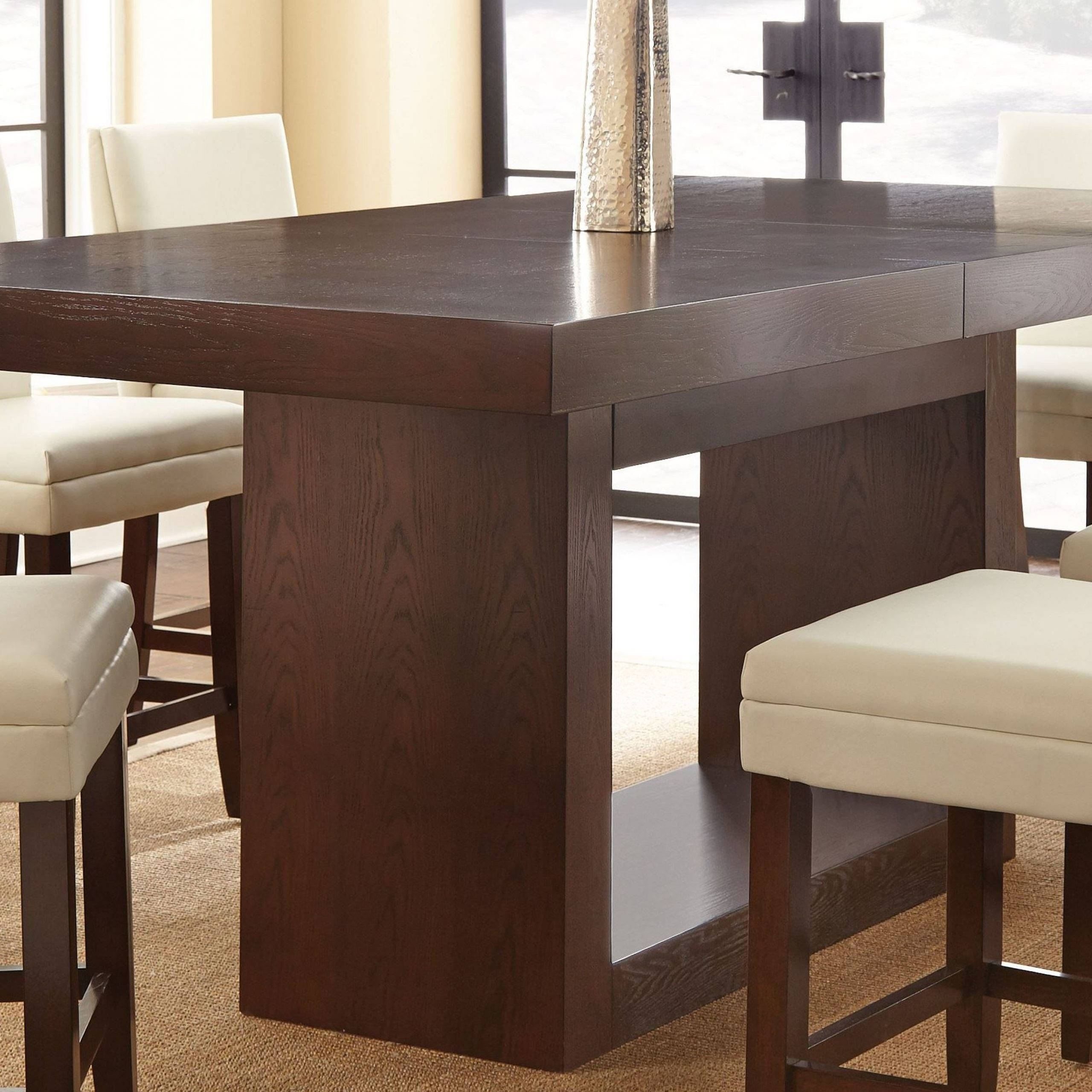 Antonio Extendable Rectangular Counter Height Dining Table Inside Recent Overstreet Bar Height Dining Tables (View 11 of 15)
