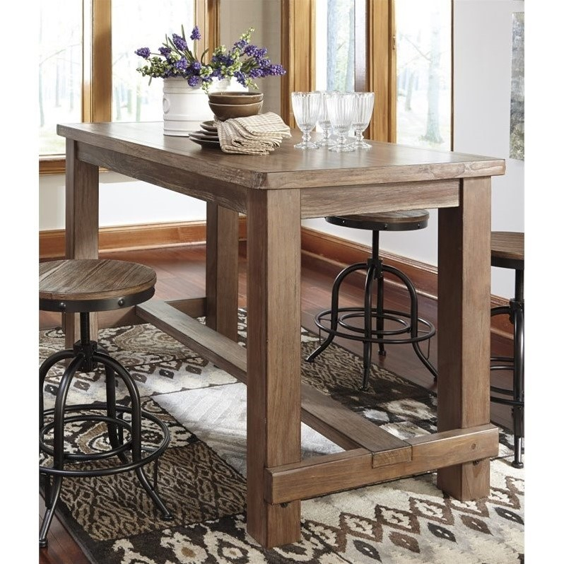 Ashley Furniture Pinnadel Counter Height Dining Table In Pertaining To Most Recently Released Hearne Counter Height Dining Tables (View 6 of 15)